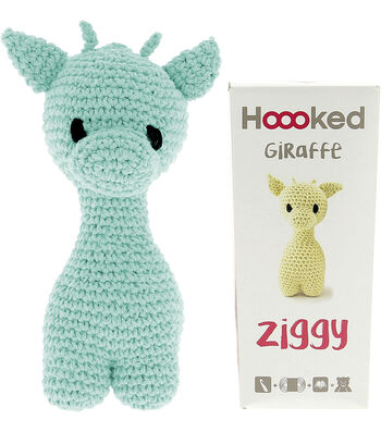 Hoooked Ziggy Giraffe Kit with Eco Barbante Yarn-Spring