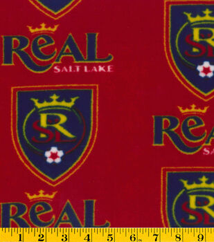 Real Salt Lake Fleece Fabric -Logo