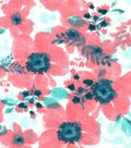 Snuggle Flannel Fabric -Peach Floral