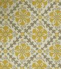 Jaclyn Smith Upholstery Fabric 54\u0022-Akins/Lemon Zest