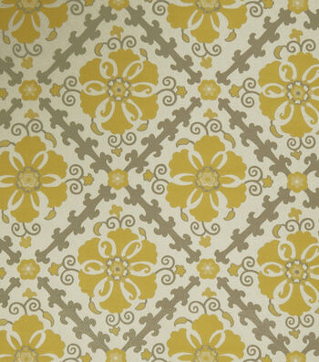 "Jaclyn Smith Upholstery Fabric 54""-Akins/Lemon Zest"
