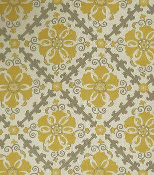 """Jaclyn Smith Upholstery Fabric 54""""-Akins/Lemon Zest"""