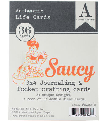 "Saucy Authentic Life Cards-3""X4"" Pocket Crafting & Journaling Cards"