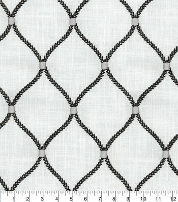 Williamsburg Multi-Purpose Decor Fabric 54''-Zinc Deane Embroidery
