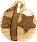 Foundations Decor Interchangeable \u0022O\u0022 Wood Shape-December-Ornament
