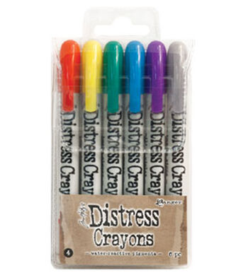 Tim Holtz Distress 6 Pack Crayon Set #4