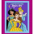 Disney Princesses No Sew Fleece Throw Fabric-Adventure Begins Here