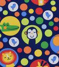 Nursery Cotton Fabric 43\u0022-Bright Jungle All Over