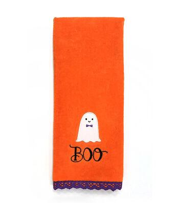Maker's Halloween 16''x28'' Towel-Boo & Ghost