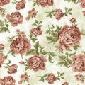 Premium Wide Cotton Fabric-Orange Large Floral