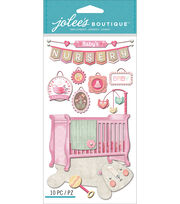 Jolee's Boutique Dimensional Stickers-Baby Girl - Nursery, , hi-res