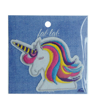 Fab Lab Wearables Unicorn Head Iron-on Applique