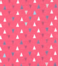 Snuggle Flannel Fabric -Gypsy Pink Triangles