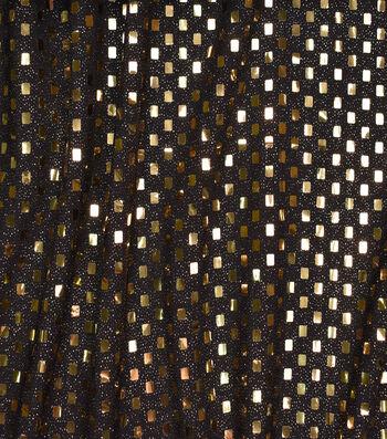 Metallics Confetti Dot Fabric -Black & Gold