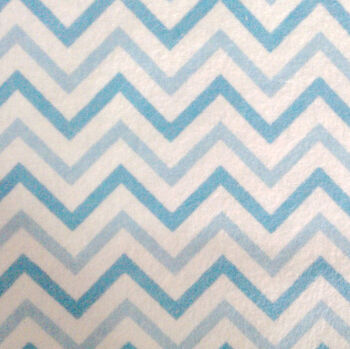 Snuggle Flannel Fabric -Blue Chevron