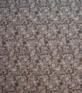 Quilter\u0027s Showcase Cotton Fabric-Beige Floral Mix on Gray