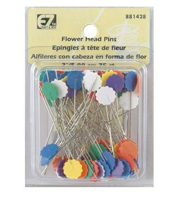 Flower Head Pins-75/Pkg