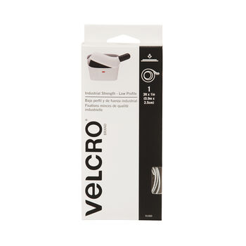 """VELCRO Brand Industrial Strength Low Profile 3' x 1"""" White"""