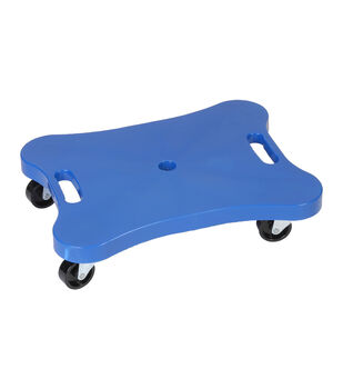 Champion Sports Contoured Plastic Scooter with Handles-Blue