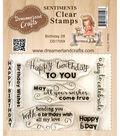 Dreamerland Crafts Sentiments Clear Stamp Set 3\u0027\u0027x4\u0027\u0027-Birthday 08