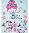 No Sew Fleece Throw Kit 48\u0027\u0027x60\u0027\u0027-Even Fairies Need to Nap