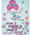 No Sew Fleece Throw Kit 48\u0027\u0027x60\u0027\u0027-Even Fairies Need to Nap