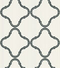 Estate White Moroccan Grate Wallpaper