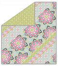 No-Sew Throw Fleece Fabric 72\u0022-Mixed Stripe Limelight