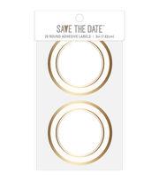 American Crafts Adhesive Labels-Gold Circle, , hi-res