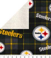 Pittsburgh Steelers Sherpa & Fleece Fabric-Plaid, , hi-res