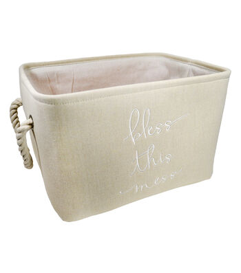 Large Shallow Laundry Bin-Bless this Mess