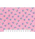 1930\u0027s Premium Cotton Print Fabric 43\u0027\u0027-Tossed Floral Bunch on Pink
