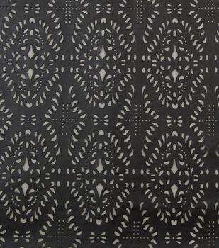 Yaya Han Cosplay Laser Cut Pleather Fabric-Black