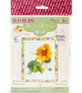RIOLIS Happy Bee 5\u0027\u0027x6.25\u0027\u0027 Counted Cross Stitch Kit-Nasturtium