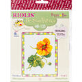 RIOLIS Happy Bee 5\u0027\u0027x6.25\u0027\u0027 Counted Cross Stitch Kit-Nasturtium