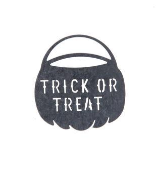 Maker's Halloween Craft Galvanized Cutout Sign-Trick or Treat