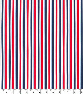 Patriotic Cotton Fabric-Patriotic Stripes