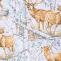 Super Snuggle Flannel Fabric-Realistic Animals in Woods