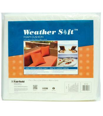 "Weather Soft Foam Cushion 17"" x 19"" x 2 1/2"" thick"