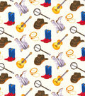 Novelty Cotton Fabric-Western Music Icons