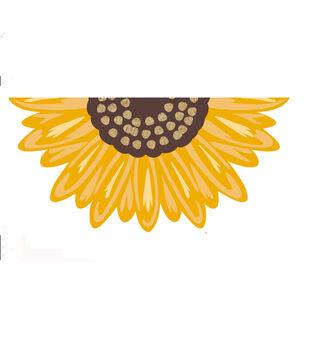 Simply Autumn 17.71''x 29.52'' Figural Sunflower Tufted Coir Mat