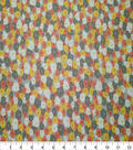 Quilter\u0027s Showcase Cotton Fabric-Packed Flowers Yellow Coral