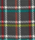 Anti-Pill Fleece Fabric 59\u0022-Gray Plaid Poppy Teal White