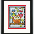 Dimensions 5\u0027\u0027x7\u0027\u0027 Counted Cross Stitch Kit-Owl Trio