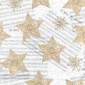 Christmas Cotton Fabric-Scroll Stars on Metallic