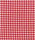 Homespun Cotton Fabric 44\u0022 Wide-1/4\u0022 Red Gingham