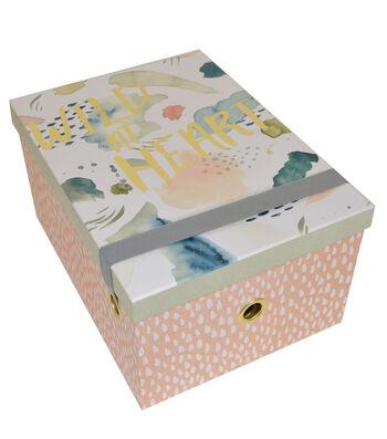 Organizing Essentials Large Storage Box-April Showers