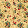 Christmas Cotton Fabric-Holiday Music & Horns
