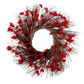 Handmade Holiday Christmas 24.02\u0027\u0027 Berry Wreath-Red