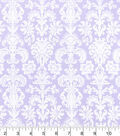 Nursery Cotton Fabric -Lilac Damask
